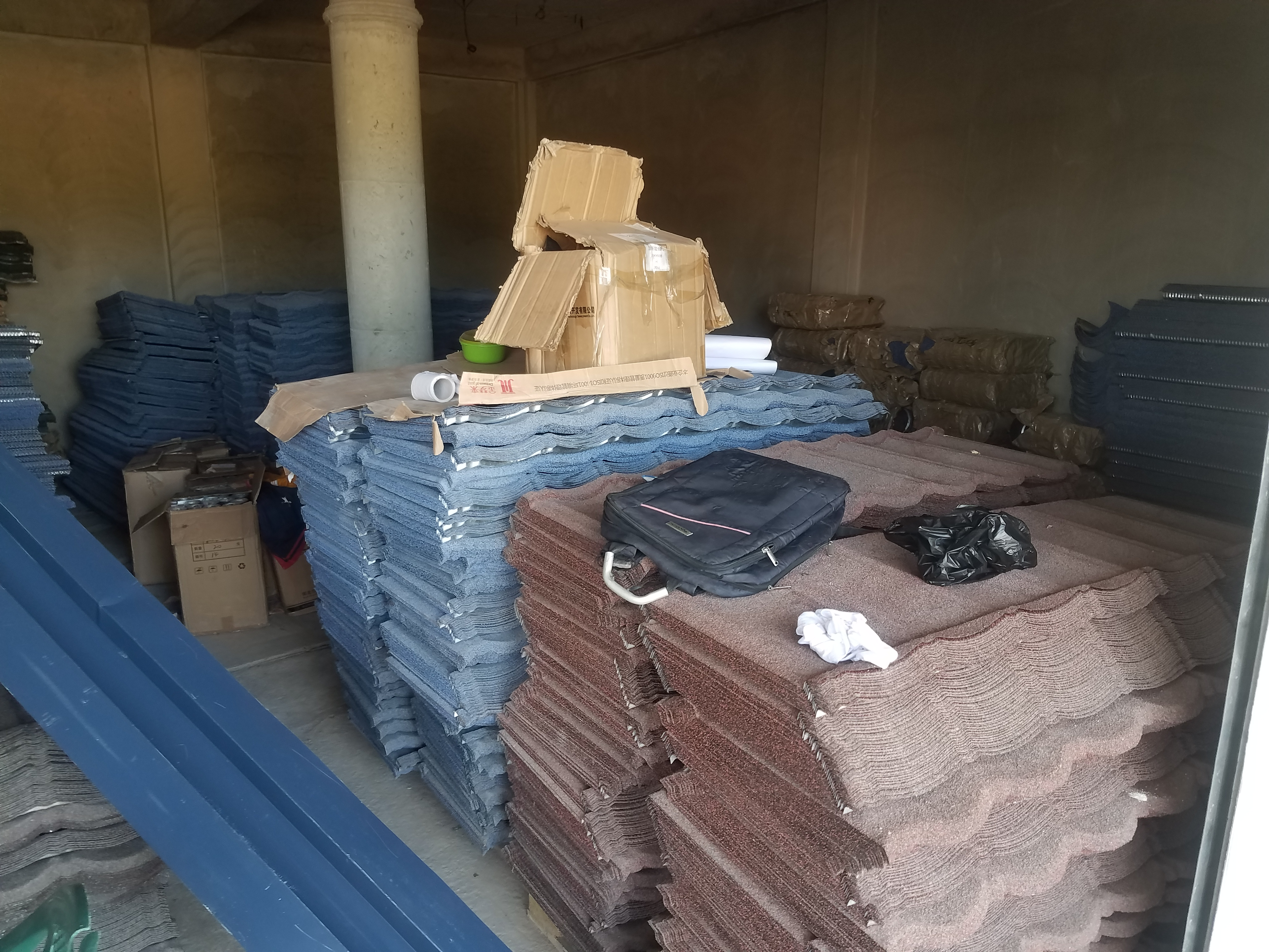 supply and installation of shingles roofing sheet